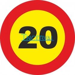 Señal metálica limitación velocidad (20)