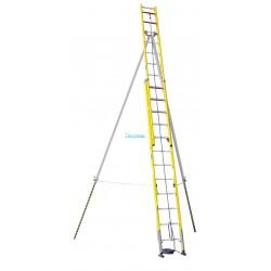 Escalera doble tramo para postes Arisafe-1