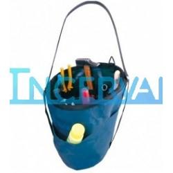 Bolsa cilíndrica de empalmador de nylon con bolsillos interiores B95